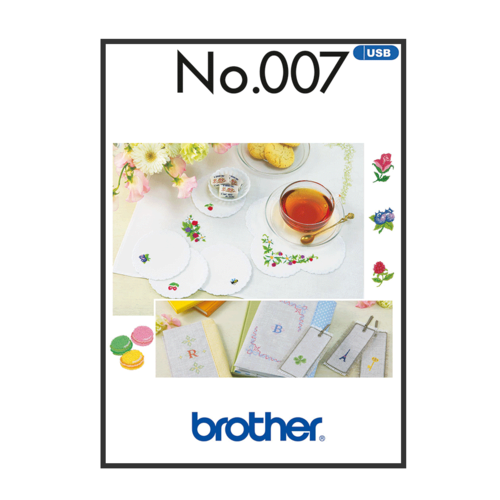 Brother Embroidery Pattern Petit Point BLECUSB007