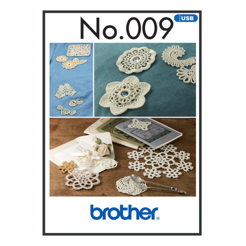 Brother Embroidery Pattern Crochet  BLECUSB009