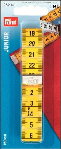 Prym Tape measure with cm scale, 150 cm, yellow / white