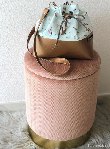 Bucket Bag mit Melonen Stoff