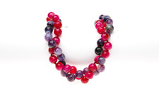 "Achat Kette zweireihig ""Pink and purple twist"" Lila"