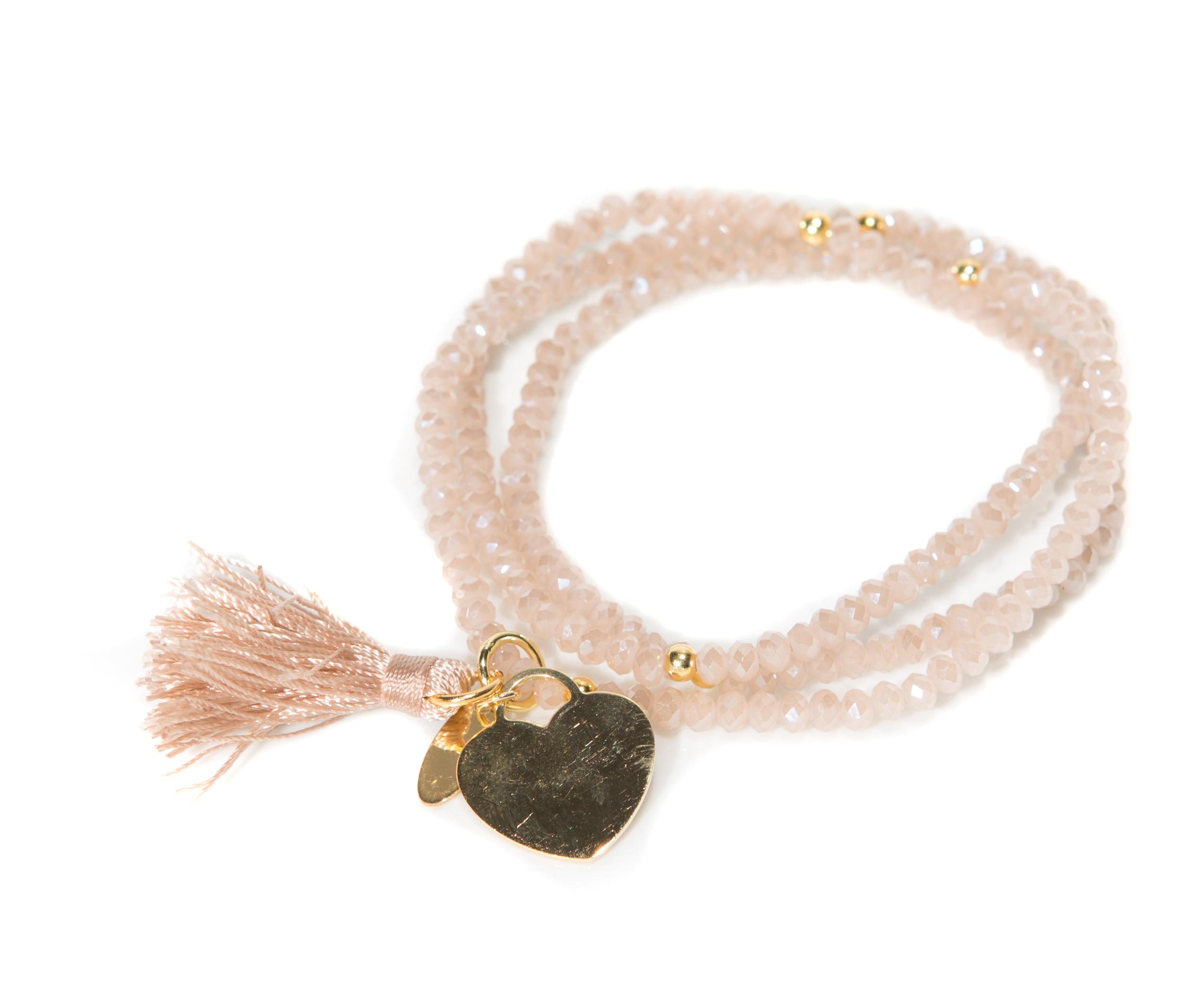 "Kristall Armband ""Love Collection"" Champagne"