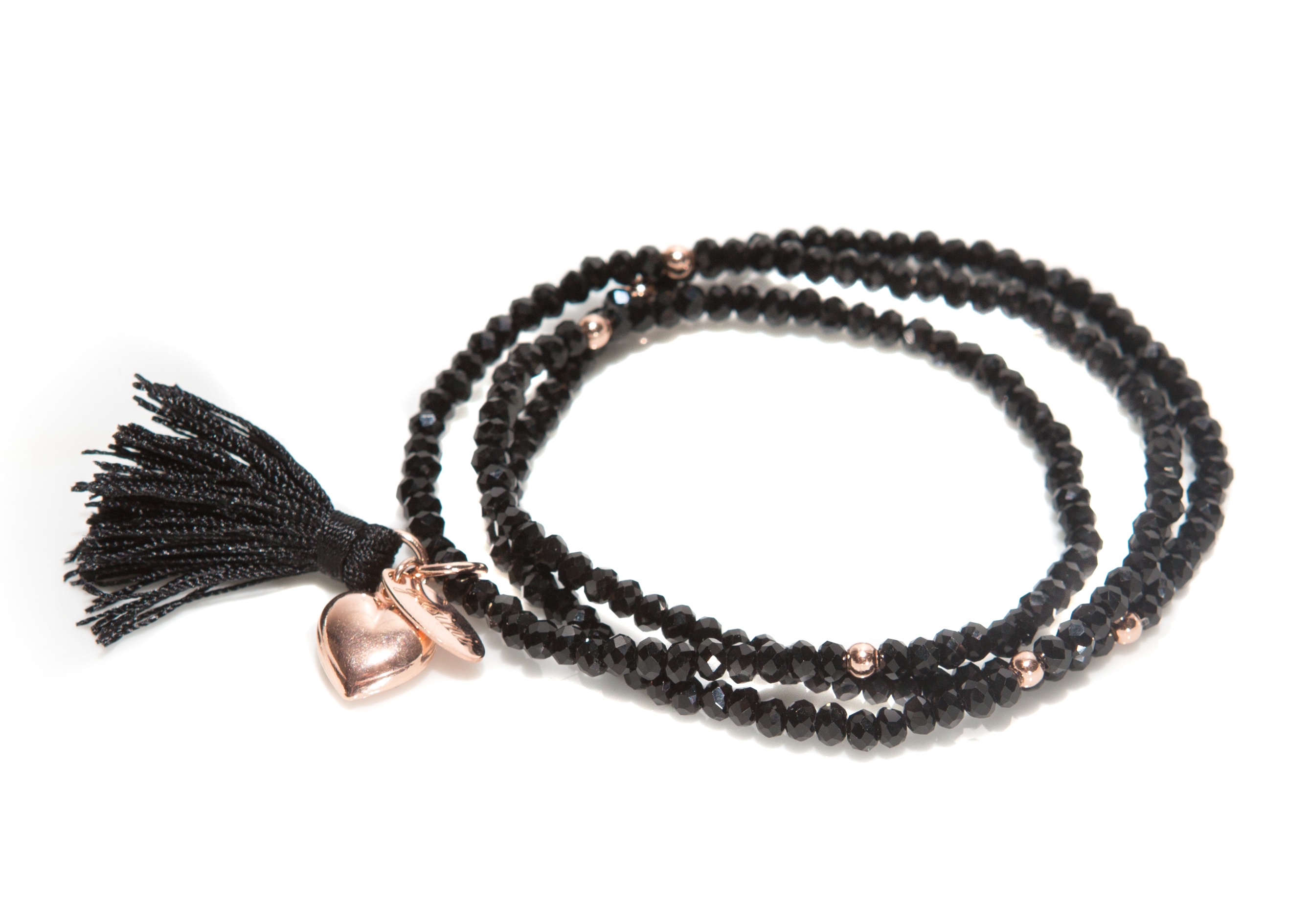 "Kristall Armband ""Love Collection"" schwarz"
