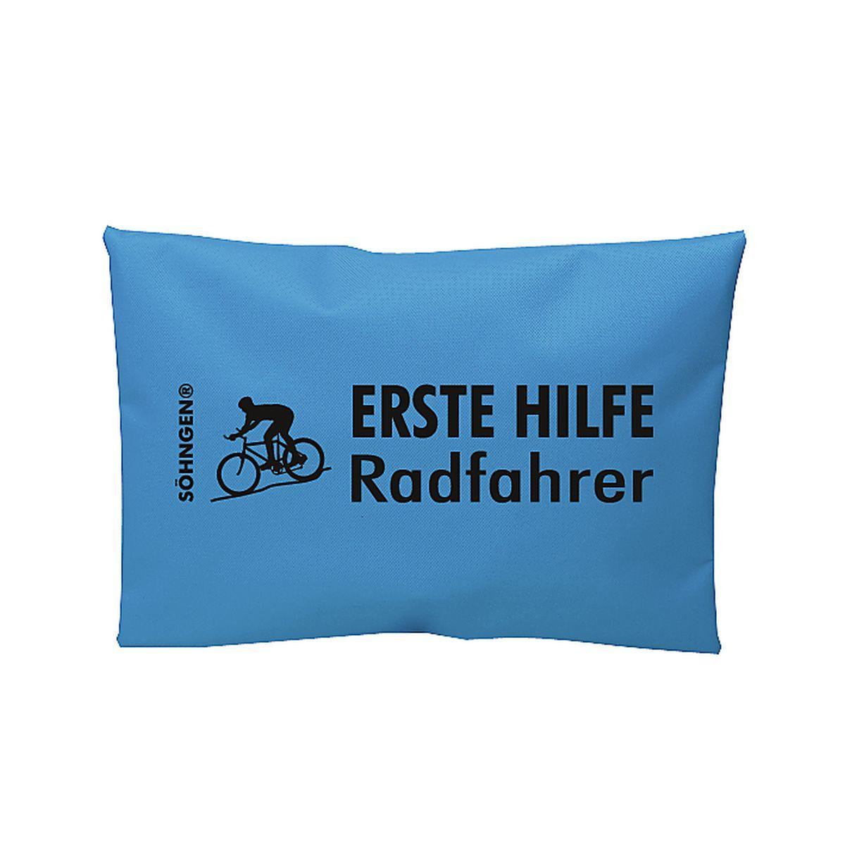 Erste Hilfe Radfahrer blau