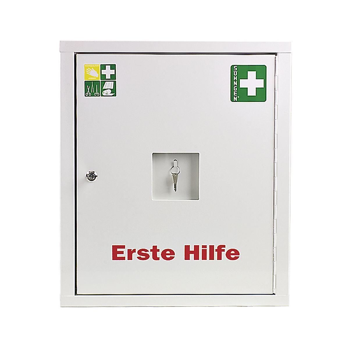 Verbandschrank EUROSAFE Industrie Norm DIN 13169 weiß