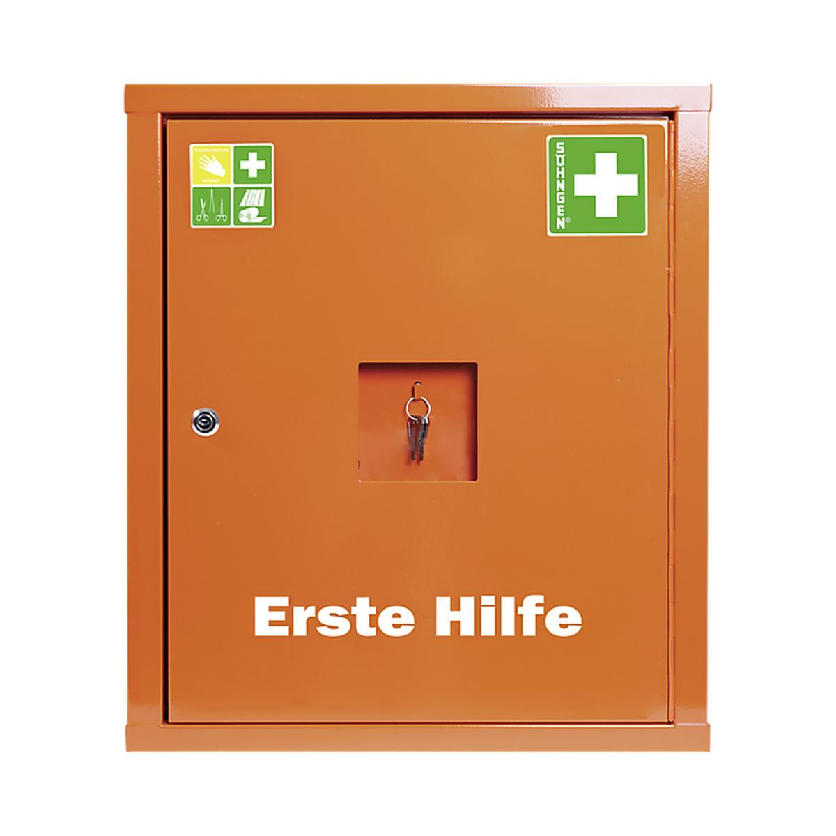 Verbandschrank EUROSAFE Industrie Norm DIN 13169 Plus orange