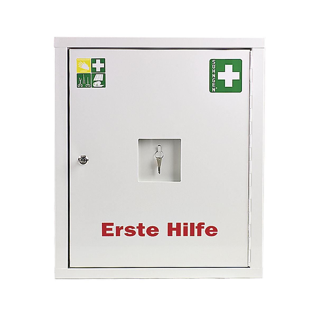 Verbandschrank EUROSAFE Industrie Norm DIN 13169 Plus weiß