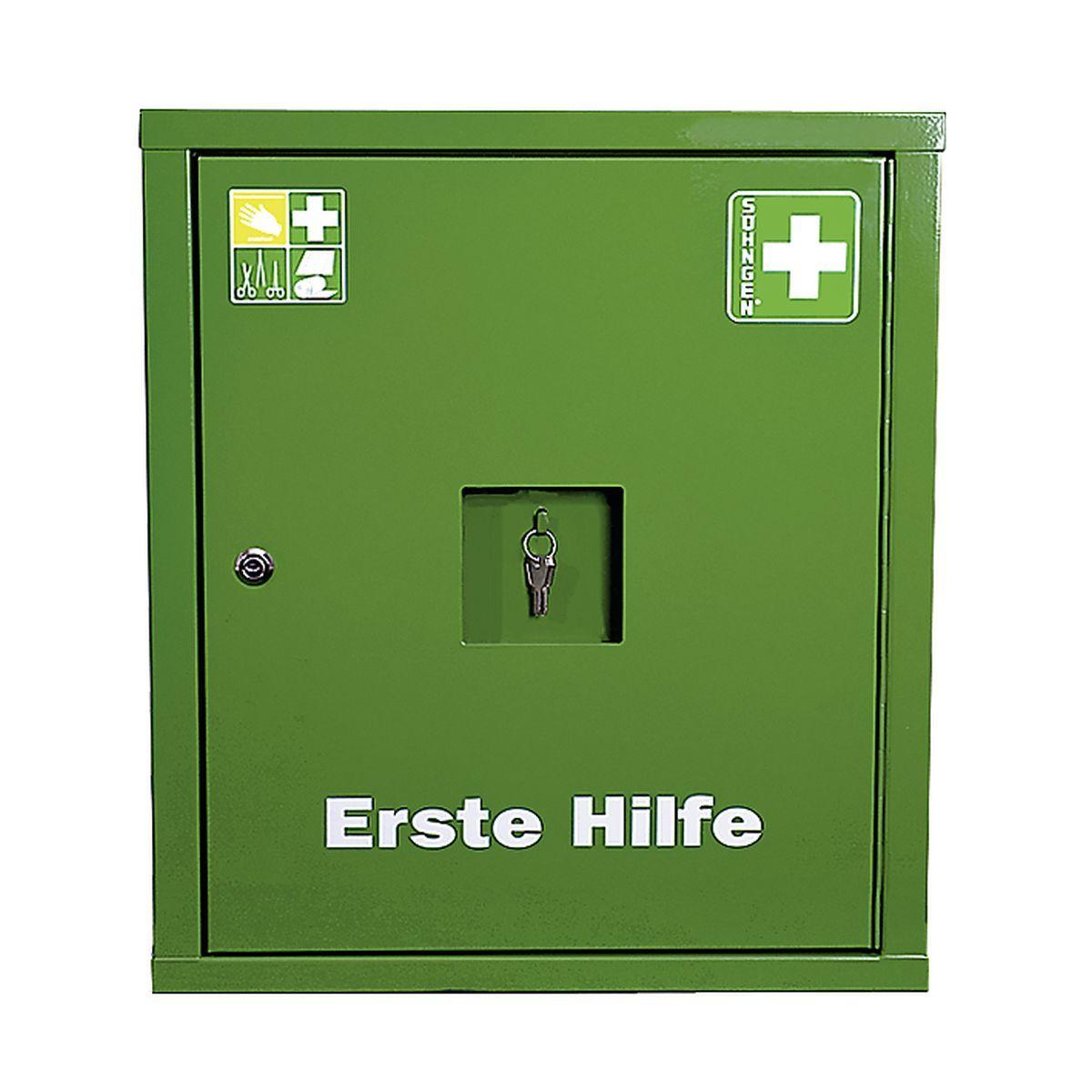 Verbandschrank EUROSAFE Industrie NORM DIN 13169 grün