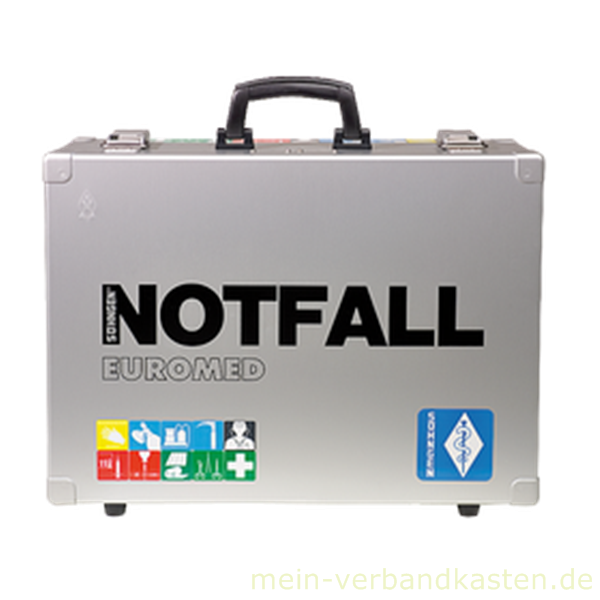 Notfallkoffer EUROMED leer mit Inneneinrichtung