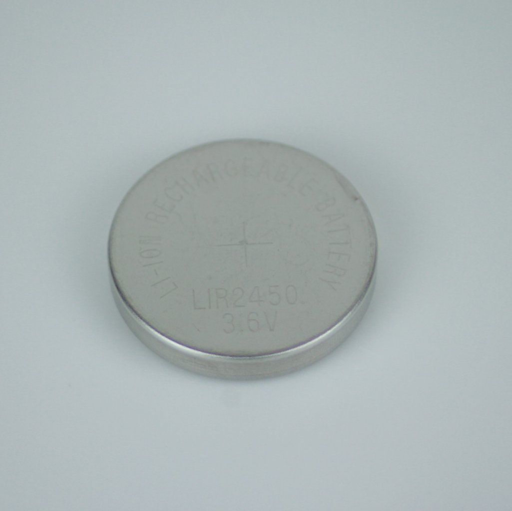 LIR2450 3,6V Knopfzellenakku Batterie, wiederaufladbar