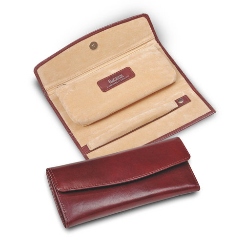 jewellery roll / new classic, bordeaux (cowhide leather)