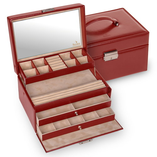 jewellery case Jette/ new classic, red