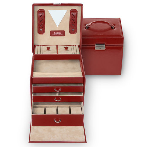 jewellery case Lisa/ new classic, red