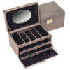 jewellery case Elly/ lagarto, taupe
