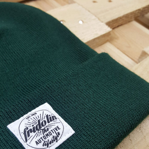 Fridolin Beanie Patch Green