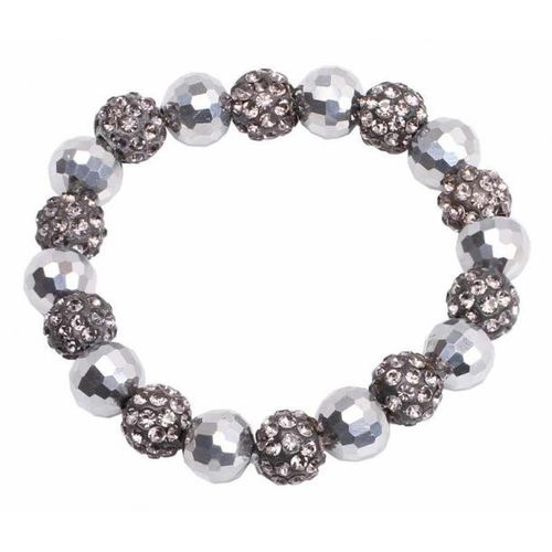 "Haargummi ""Diamond Bead""  grey von SD Design"
