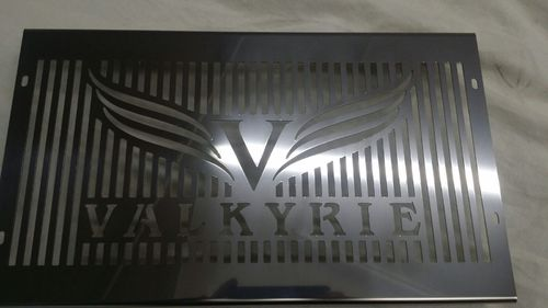 "Chrome Radiator Cover ""Valkyrie"""