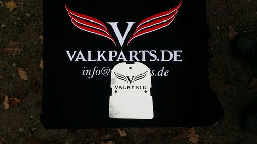 "Backrest Plate ""Valkyrie with logo"""