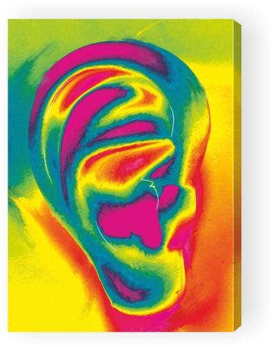 Picture on Canvas Ear PopArt -single-