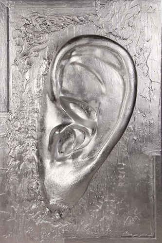 Picture big 'Ear Abstract' - silver-
