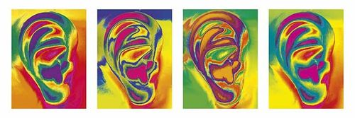 Picture Ear PopArt 4 in a row -landscape-