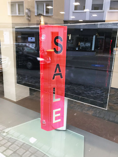 "Perspective ""SALE"" Neon Acryl Display"