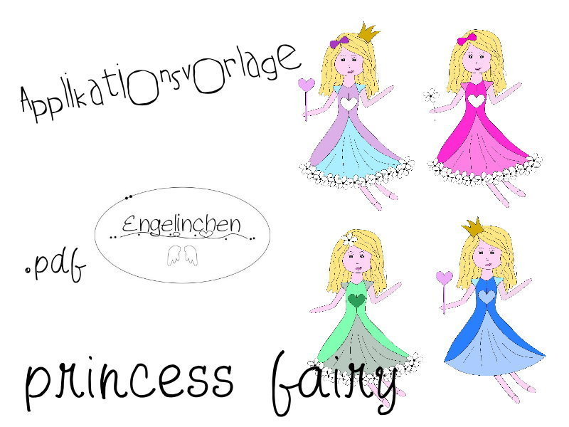 Applikationsvorlage princess fairy