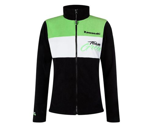 Kawasaki TEAM GREEN Fleece Jacke Damen