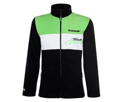 Kawasaki TEAM GREEN Fleece Jacke Herren