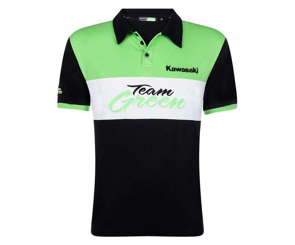 Shop für authentische begrenzter Verkauf im Angebot Kawasaki TEAM GREEN Polo Shirt Herren - www.kawasaki-24.de