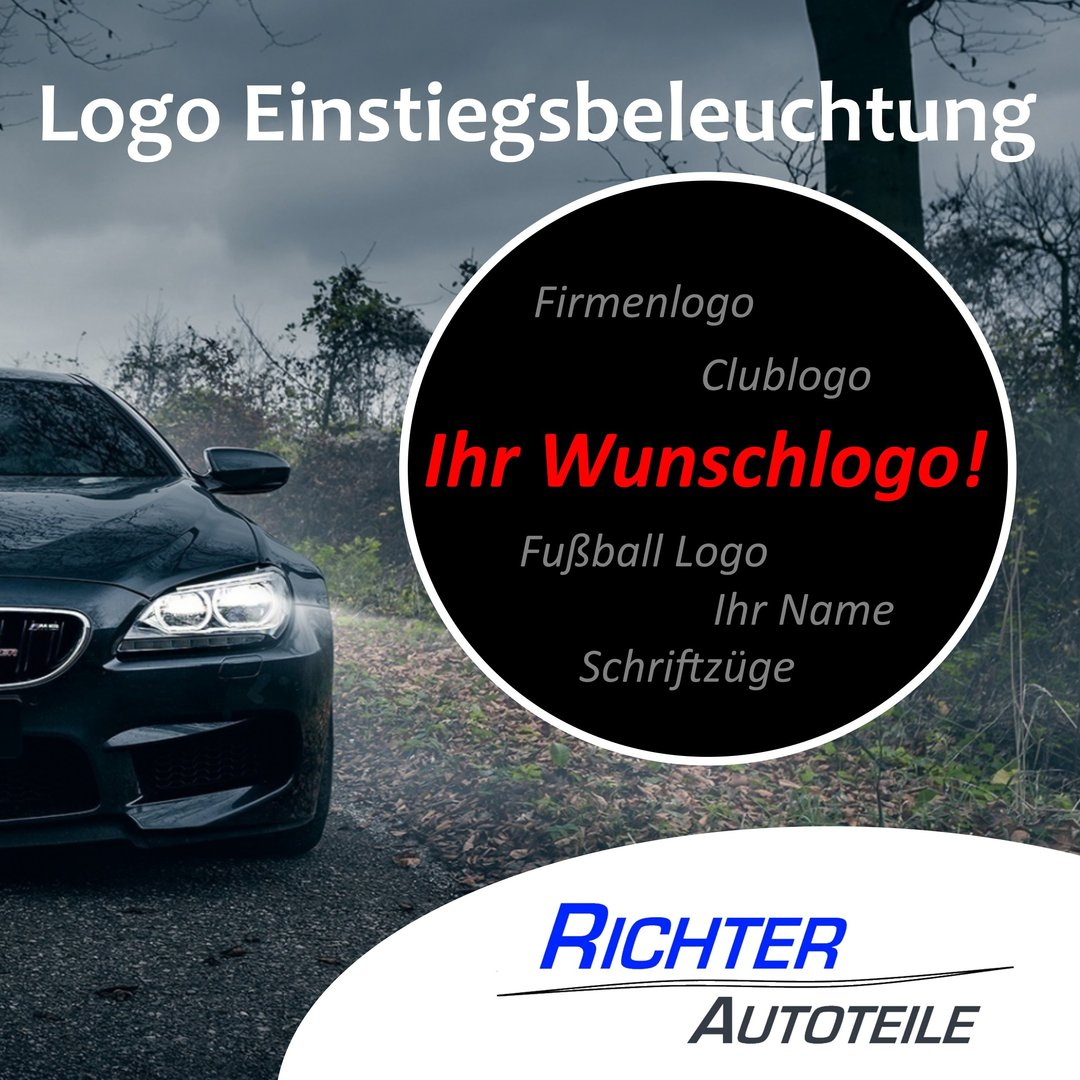 Türbeleuchtung Wunschlogo Plug&Play Audi BMW VW