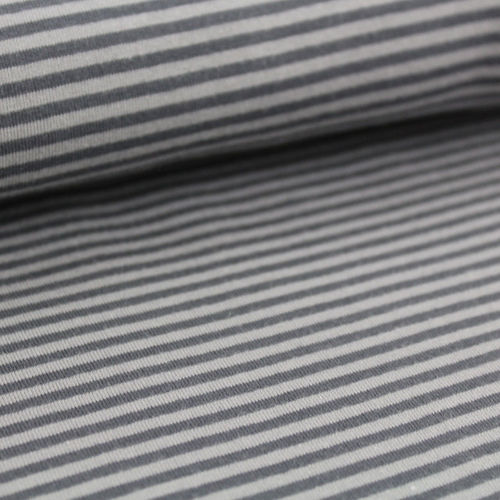 Organic Jersey stripes - grey mini (GOTS)