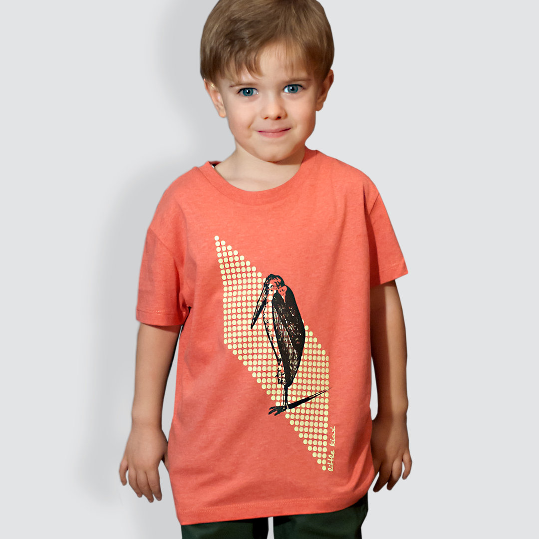 "Kinder T-Shirt, ""Marabu"", Mid Heather Red"