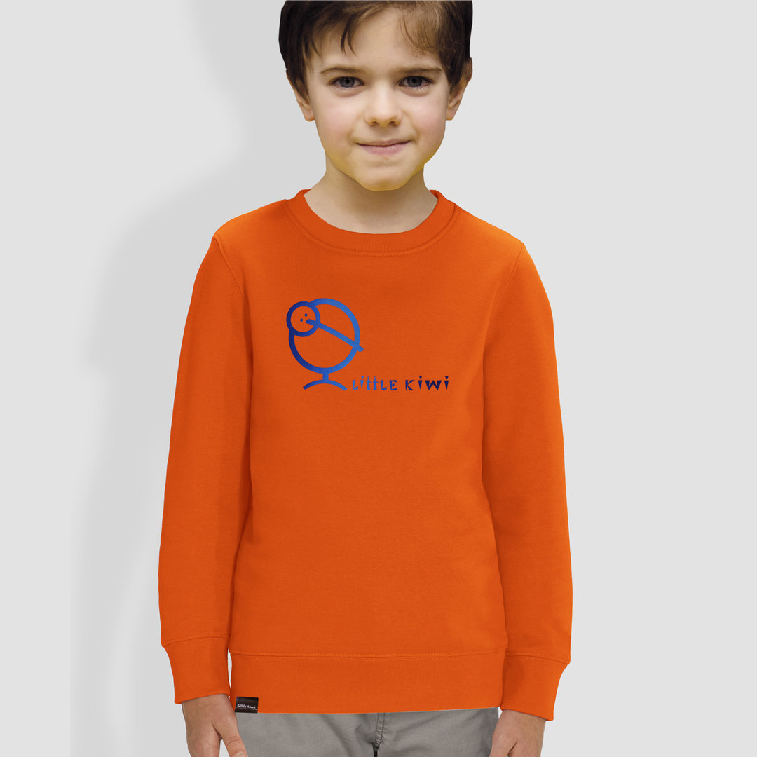 "Kinder Sweatshirt, ""Kiwis Farbenspiel"", Orange"