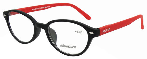 "Fertiglesebrille ""rubber finish"" mit Federscharnier"