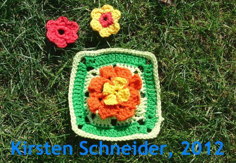 Granny Square FRÜHLINGSWIESE -  Anleitung für ein fröhliches Granny Square