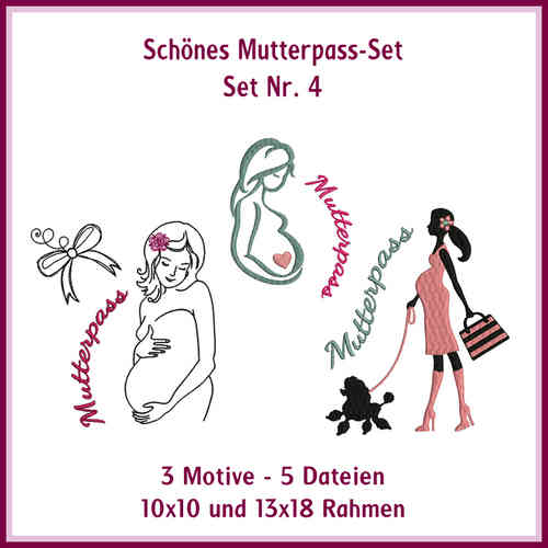 Set-Nr 4 Mutterpass Mamamia Stickdatei
