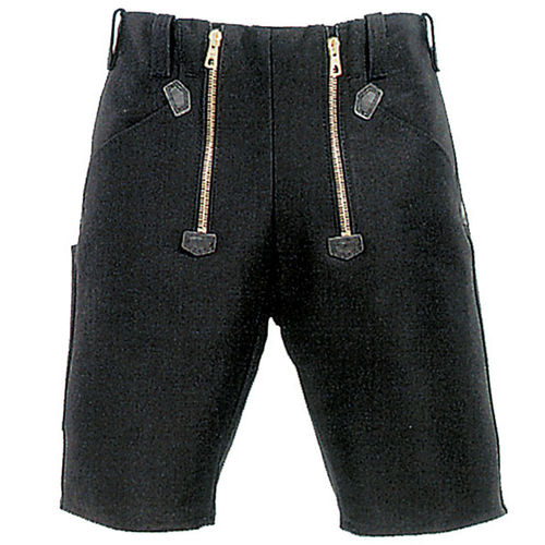 Zimmermann-Shorts, Canvas, schwarz