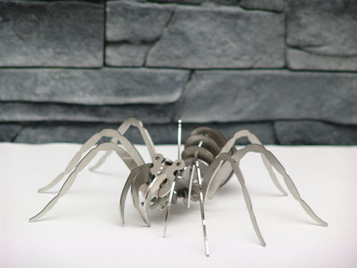 3D Puzzle Spinne Edelstahl