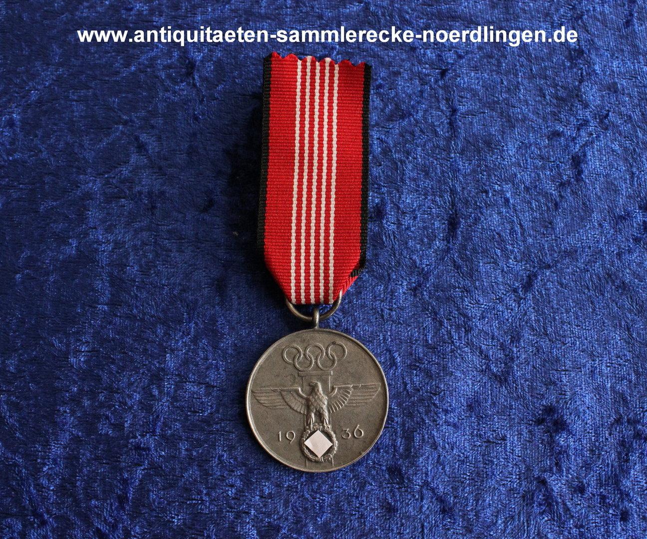 Erinnerungsmedaille Fur Die Olympischen Spiele Fur Verdienstvolle Mitarbeit Antiquitaten Sammlerecke Nordlingen E K