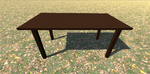 3D Model Table Wood 1