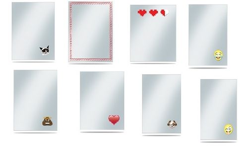 UP - Printed Deck Protector Sleeve Covers (50 Sleeves) - Emoji zum auswählen