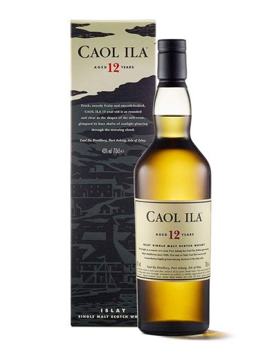Caol Ila 12 Year Old Islay Single Malt Whisky 0,7 l bottle with 43% vol. alcohol