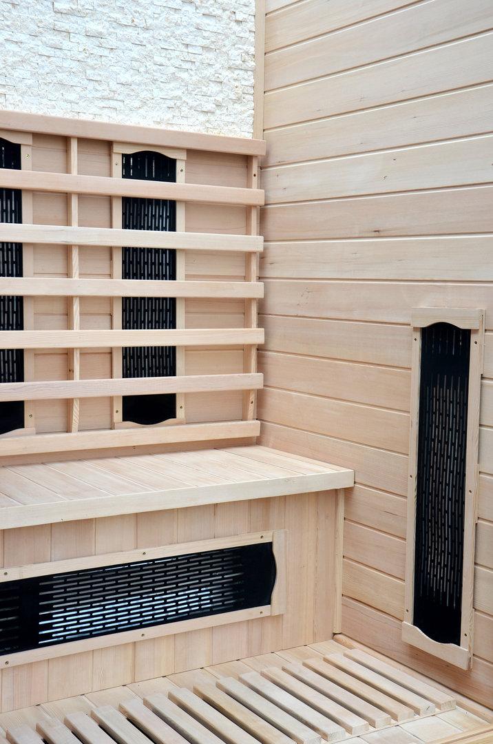 infrarotkabine w rmekabine infrarotsauna sauna hemlock f r 2 personen neu. Black Bedroom Furniture Sets. Home Design Ideas