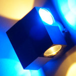 LED Wandstrahler TIMESQUARE weiss/blau Wandleuchte Design-Strahler 5,7 Jahre