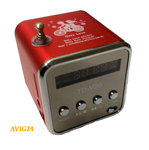 Music Player Angel mini Lautsprecher Akku Speaker Radio FM USB Micro SD Rot MP3