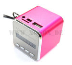 Mini Tragbarer MP3 Player Lautsprecher FQ 46 (Pink) RADIO