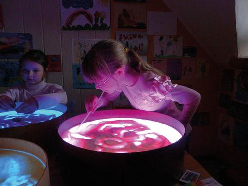 Leuchtkübel  - Lichtkübel -  Leuchtkreis - TOP mit Fernbedienung