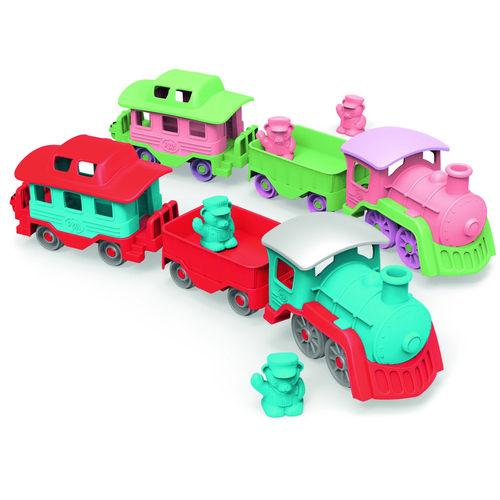 Eisenbahn mit 2 Anhängern - 65 cm lang  U3