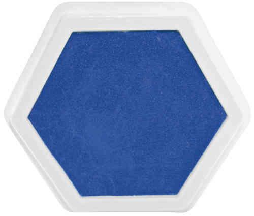 Riesenstempelkissen Blau
